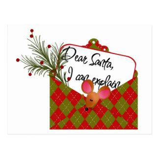 Dear Santa...I Can Explain Postcard