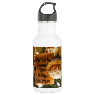 Dear Santa I Could Use A Hug Stainless Steel Water Bottle