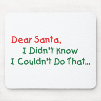 Dear Santa, I Didn't Know I Couldn't Do That Mouse Pad