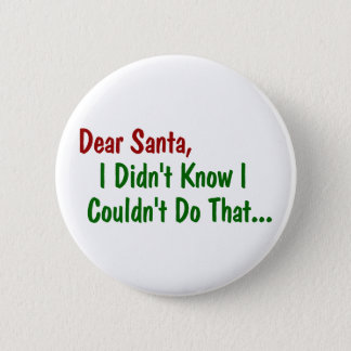 Dear Santa, I Didn't Know I Couldn't Do That Pinback Button