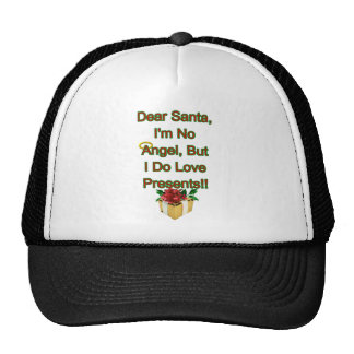 Dear Santa I m No Angel Hat