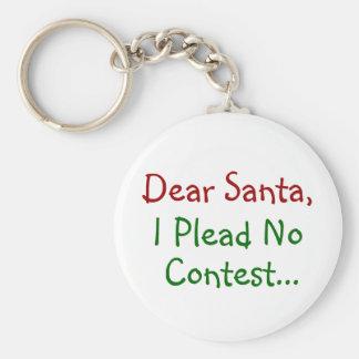 Dear Santa, I Plead No Contest Basic Round Button Keychain