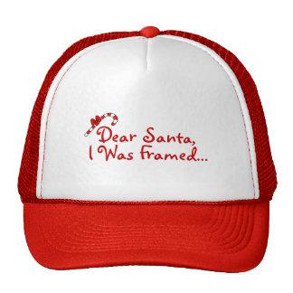 Dear Santa I Was Framed Mesh Hats