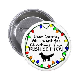 Dear Santa Irish Setter Pins