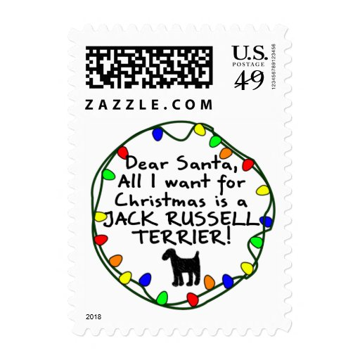 Dear Santa Jack Russell Terrier Postage Stamps