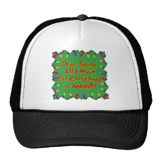 Dear santa letter Ammo for Christmas Mesh Hats