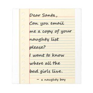 Naughty santa notepads zazzle dear santa letter from a naughty boy notepad spiritdancerdesigns Gallery