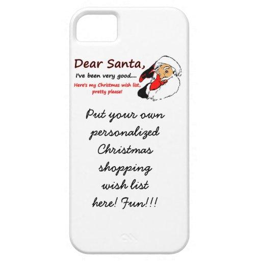 Dear Santa Letter Wish List Christmas iPhone 5 Cases