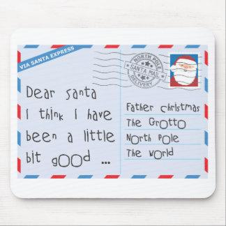 Dear Santa Little Bit Good Worn Mouse Pad