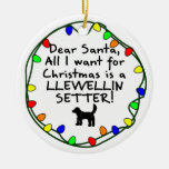 Dear Santa Llewellin Setter Ornaments