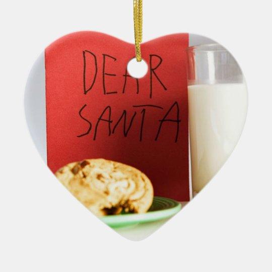 Dear Santa Milk and Cookies Christmas  Ornament