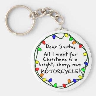 Dear Santa Motorcycle Keychain