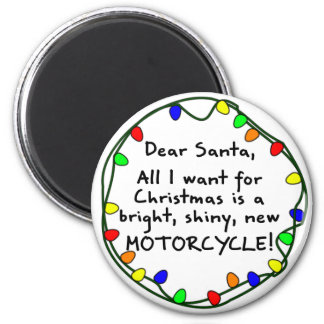 Dear Santa Motorcycle Magnet