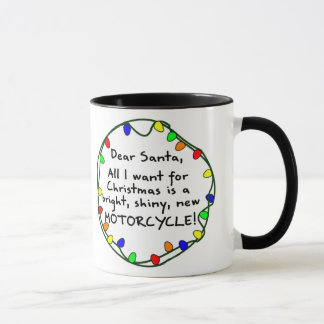 Dear Santa Motorcycle Mug