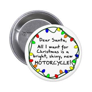Dear Santa Motorcycle Pins