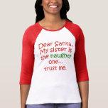 Dear Santa Naughty Sister T-Shirt