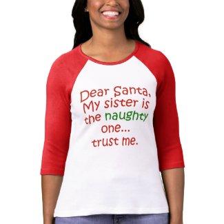 Dear Santa Naughty Sister