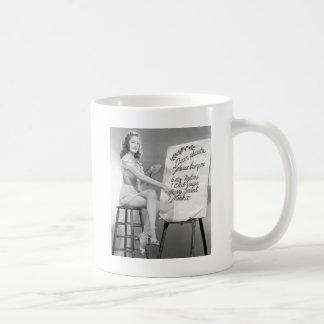 Dear Santa Pinup Girl Coffee Mug