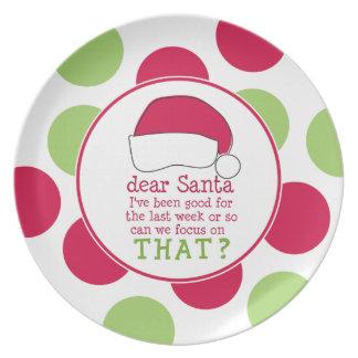 Dear Santa Dinner Plate