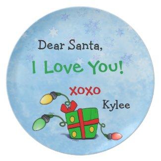 Dear Santa Plate