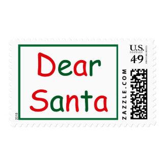 Dear Santa Postage Stamp