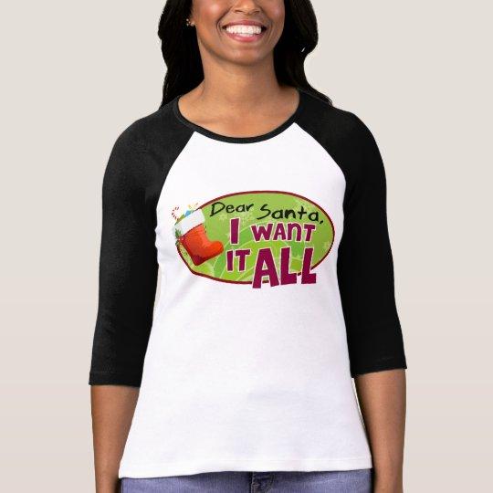 Dear Santa Raglan T-Shirt