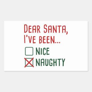 Dear Santa Rectangular Sticker