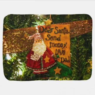 Dear Santa Send Money Stroller Blanket