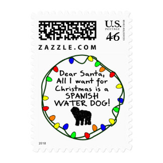 Dear Santa Spanish Water Dog Postage