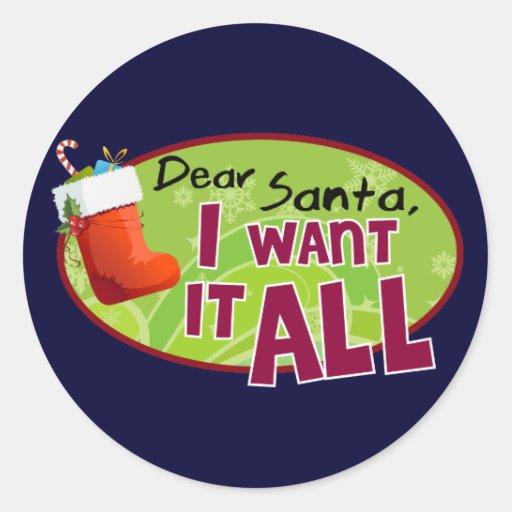 Dear Santa Stickers