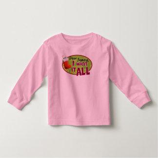 Dear Santa Toddler Long Sleeve T Shirt