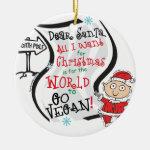 Dear Santa Vegan Wish Christmas Tree Ornament