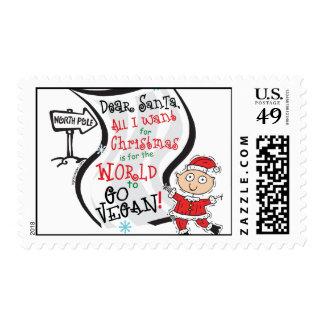 Dear Santa Vegan Wish Postage