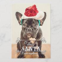 Dear Santa We Can Explain Holidays Photo Cards