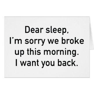 Dear Sleep Card