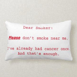 Dear Smoker Lumbar Pillow