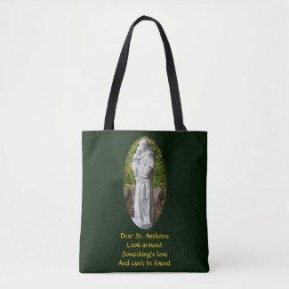 Dear St. Anthony Look Around Catholic Tote Bag