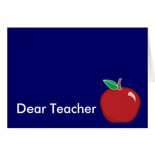 Dear Teacher-Customize Greeting Card