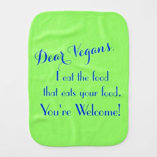 Dear Vegans Baby Burp Cloths