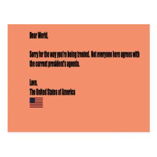 Dear World Postcard