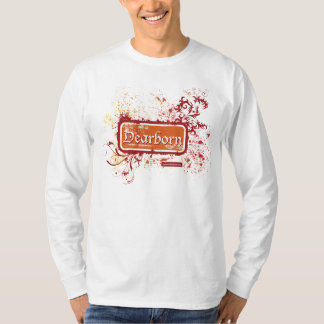 Dearborn apenó la camiseta del LS de los hombres Remera