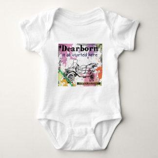 Dearborn - él todo el comenzado aquí - ropa body para bebé