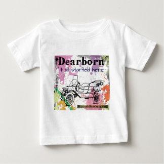 Dearborn - él todo el comenzado aquí - ropa playera de bebé