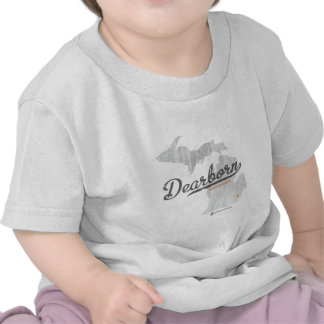 Dearborn Michigan Map T-shirts
