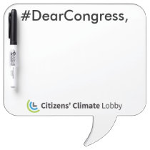 #DearCongress Speech Bubble Dry Erase Board
