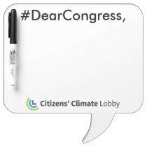 #DearCongress Speech Bubble Dry Erase Board