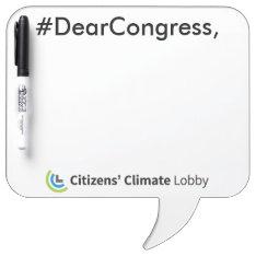 #dearcongress Speech Bubble Dry Erase Board at Zazzle