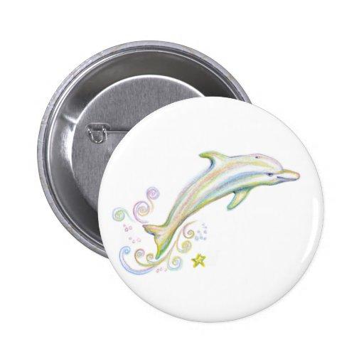 Dearest Dolphin Pinback Button