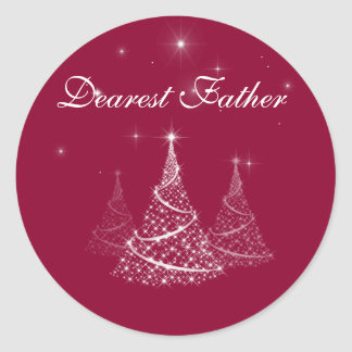 Dearest Father gift sticker