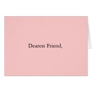Dearest Friend. Card